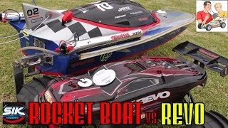 getlinkyoutube.com-Rocket Boat vs Car. What could possibly go wrong?