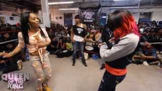 getlinkyoutube.com-BABS BUNNY & VAGUE presents QUEEN OF THE RING STAR GIRL LADY RED vs MS QUEEN