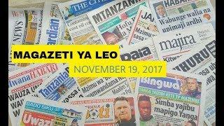 Magazeti ya Leo November 19, 2017