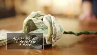 getlinkyoutube.com-How to Make Flowers out of Dollar Bills