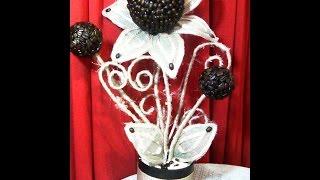 getlinkyoutube.com-Arreglo floral con granos de café. DIY