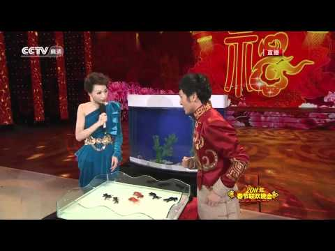 magos chinos con peceras - chinese magicians and aquariums