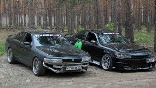 getlinkyoutube.com-Toyota Mark II jzx90 and Toyota Chaser jzx90 drift