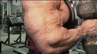 getlinkyoutube.com-Vascular bodybuilder Armon Adibi at Metroflex Gym - Promo for DVD Call of the Iron Vol. 6