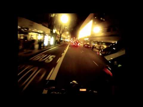 Suzuki DRZ 400 SM + GoPro HD at Night