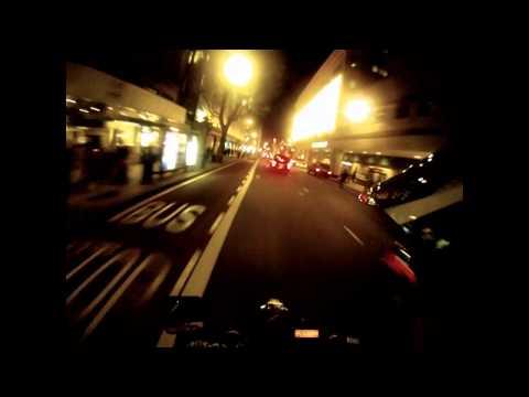 Suzuki DRZ 400 SM + GoPro HD at Night