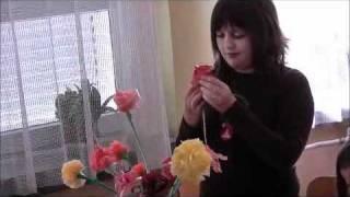 getlinkyoutube.com-Izrada ruže od plastične vrećice