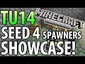 Minecraft (Xbox 360) - TU14 SEED SHOWCASE! - 4 SURFACE SPAWNERS + MORE!