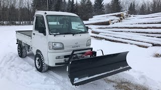 getlinkyoutube.com-Hijet Mini Truck with Upgrades and Snow Plow