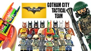 getlinkyoutube.com-Lego Batman Movie Mini Batmobile w/ Gotham City Special Tactical Unit Unofficial LEGO Minifigures