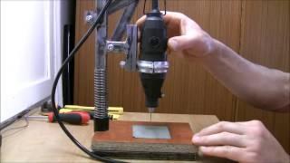 getlinkyoutube.com-DIY PCB DRILL PRESS