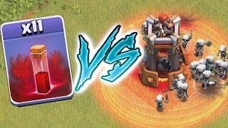 getlinkyoutube.com-Clash of clans BOMB TOWER VS. ALL SKELETONS (TROLL CHALLENGE!)