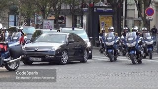 getlinkyoutube.com-Motorcade of Chinese President Xi Jinping in Paris