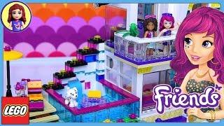 getlinkyoutube.com-Lego Friends Livi's Pop Star House Set Build Review Play - Kids Toys