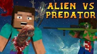 getlinkyoutube.com-Minecraft Mods - ALIEN VS PREDATOR MOD - ALIENS, GUNS, and DORITOS?! (Minecraft Mod Showcase)