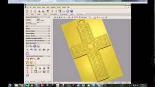 getlinkyoutube.com-ArtCAM Tutorial - Complete Cross