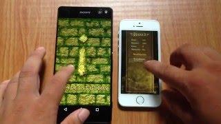 getlinkyoutube.com-Speed test iPhone 5s vs Xperia C5 Ultra