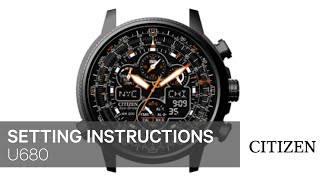 getlinkyoutube.com-CITIZEN U680 Setting Instruction
