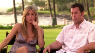 getlinkyoutube.com-Jennifer Aniston with braless cleavage & pokies on BTS of 'Just Go With It' HD Edit