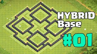 getlinkyoutube.com-TH8 Hybrid Base New UPDATE 2016 - Protect Town Hall 8 With Air Sweeper - Farming / Trophy Base