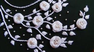 Hand Embroidery: Neckline Embroidery/Rosette Stitch
