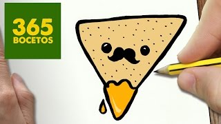 getlinkyoutube.com-COMO DIBUJAR NACHOS KAWAII PASO A PASO - Dibujos kawaii faciles - How to draw a NACHOS