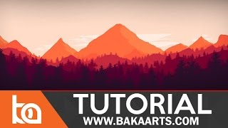 getlinkyoutube.com-Flat Landscape Photoshop Tutorial for Beginners
