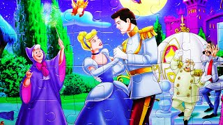 getlinkyoutube.com-Puzzle Games Disney CINDERELLA Rompecabezas Clementoni Play Set De Kids Toys