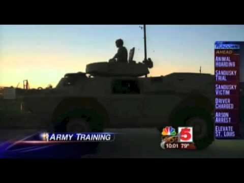 Interesting ... Military Police Training to Drive Armored Vehicles on Civilian Streets