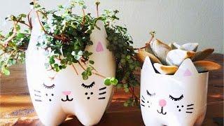 getlinkyoutube.com-Cara Membuat Pot Bunga Dari Botol Plastik Bekas (Kerajinan Tangan Barang Bekas)