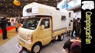 【JキャビンミニW】山小屋風のインテリアを持つ軽トラックキャンパー Japanese Lite car based truck camper