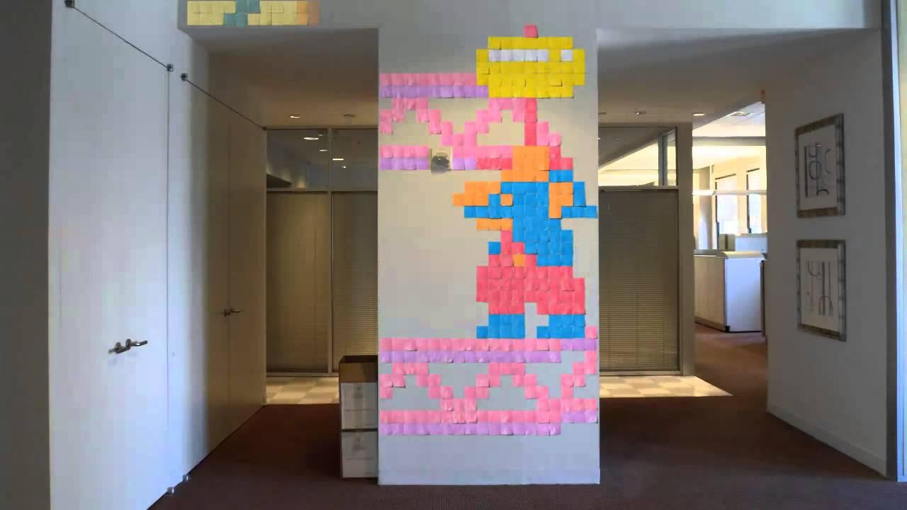 WOW! Animasi stop-motion ini, sebuah penghargaan kepada Ms Pac Man dan Donkey Kong, dibuat dari 4.800 lembar catatan!