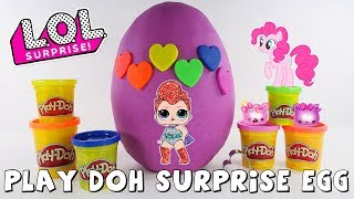 Rainbow Play Doh Surprise Egg | Surprise Toys | DCTC Amy Jo