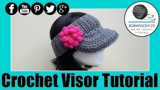 getlinkyoutube.com-The Curtis Visor Crochet Tutorial