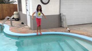 getlinkyoutube.com-Jumping In The Pool With Clothes On