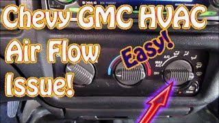 getlinkyoutube.com-GMC Jimmy, S10, Blazer DIY How to Diagnose HVAC Mode Control - Vent - Defrost - Floor Selector