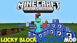 getlinkyoutube.com-LUCKY BLOCK CRYSTAL MOD + BLOCK LAUNCHER PRO PARA MINECRAFT PE 0.13.1