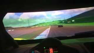 getlinkyoutube.com-HARDCORE SIM RACING! 3D projectors and Geko Systems GS-105 motion simulator