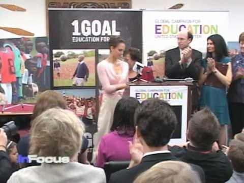 Education for Africa with Actress Jessica Alba