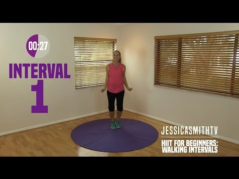 HIIT for Beginners: Walking Interval Cardio Workout, Low Impact, Fat Burning