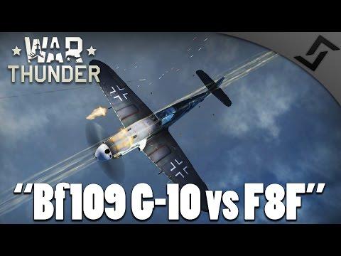 War Thunder - Bf 109 G-10 vs F8F Bearcats