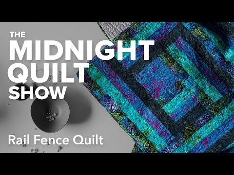 Angela's Modern Rail Fence Quilt | Midnight Quilt Show with Angela Walters