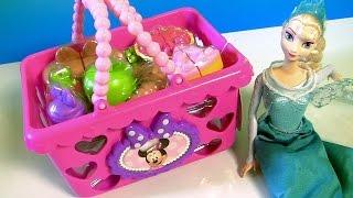getlinkyoutube.com-Cestinha de Piquenique da Minnie Mouse Picnic Basket Toy em Portugues BR Brasil toys