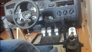 getlinkyoutube.com-Racing Simulator Real Car Instruments Cockpit Dashboard lfs outgauge rev burner