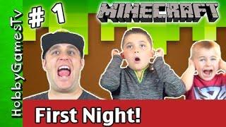 Minecraft First Time First Night HobbyDude #1 Xbox 360 Gameplay HobbyGamesTV