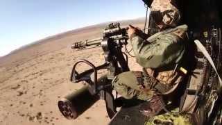 getlinkyoutube.com-INTENSE U.S. Marine Corps Close Air Support - GAU-21, Minigun, Rockets!