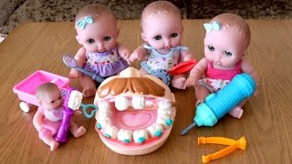Doctor Lil Cutesies Dentist Baby Dolls Drill N' Fill Patient's Teeth