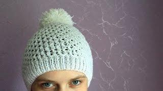 getlinkyoutube.com-Как связать шапочку (шапку) спицами для взрослого
