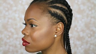 getlinkyoutube.com-How to Cornrow Your Own Hair | Beginner Friendly | MariaAntoinetteTV