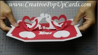 getlinkyoutube.com-How to make a Valentines day pop up card: Twisting Hearts